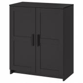 БРИМНЭС Шкаф с дверями,черный